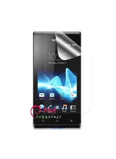 Samsung Sony Xperia J Için Ekran Koruyucu (Şeffaf) - 4 Adet Renkli